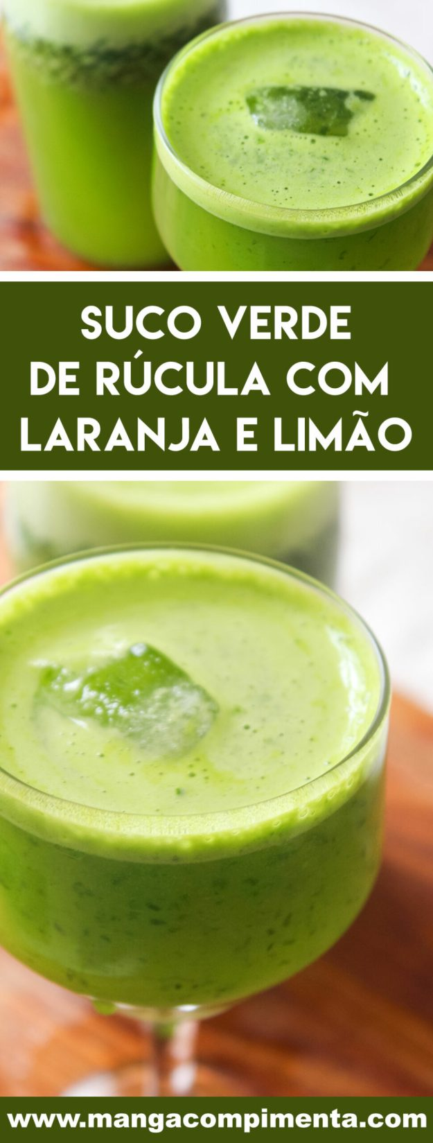 Receita de Suco Verde de Rúcula com Laranja e Limão - uma bebida nutritiva para começar bem o dia!