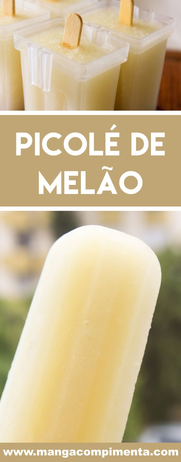 Receita de Picolé de Melão - prepare um sorvete caseiro e saudável neste verão.