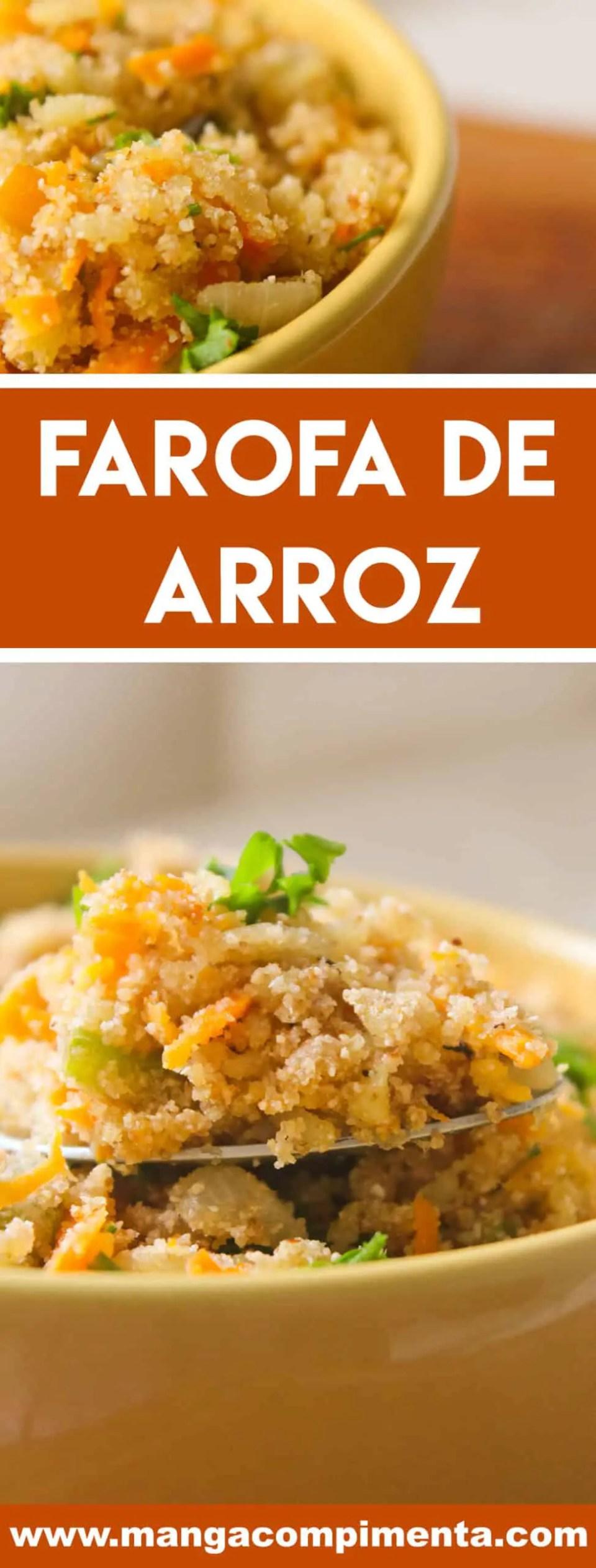 Receita de Farofa de Arroz - aproveite o feriadão de carnaval para preparar um delicioso churrasco e servir essa farofa deliciosa.