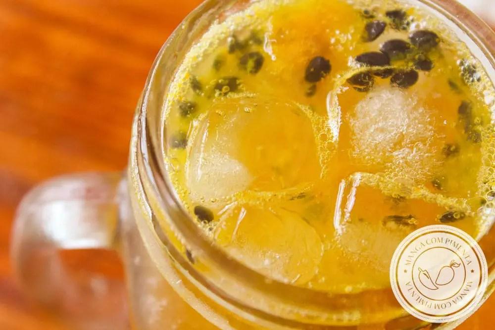 Receita de Soda Italiana de Maracujá - prepare essa bebida sem álcool e sirva para os seus convidados.