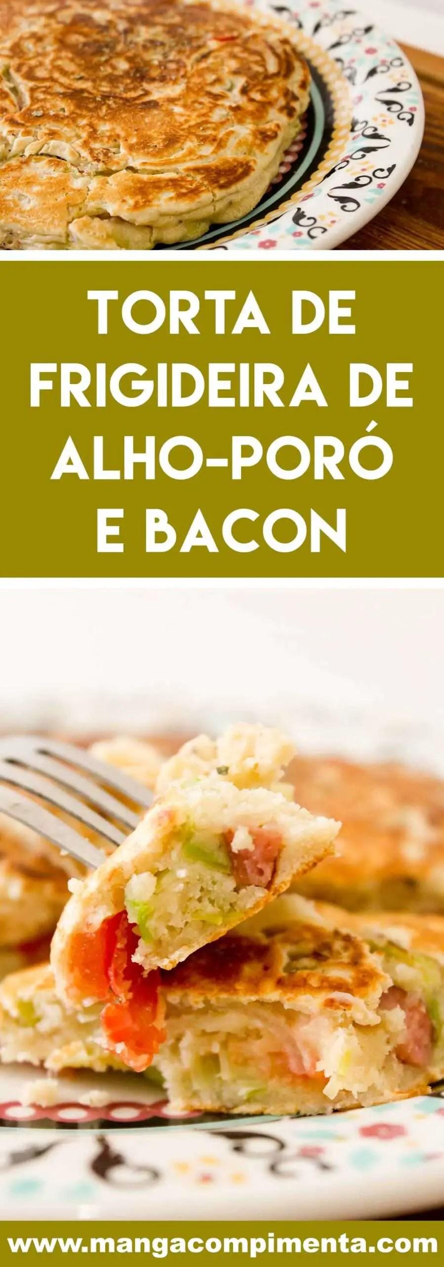 Receita de Torta de Frigideira de Alho-poró e Bacon - prepare um prato rápido e gostoso para o almoço da semana!