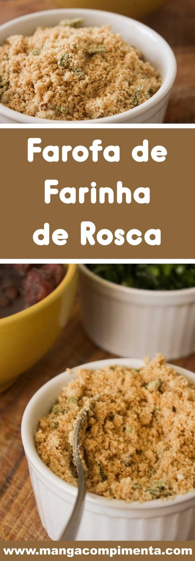 Receita de Farofa de Farinha de Rosca - para servir com frango assado ou feijoada!