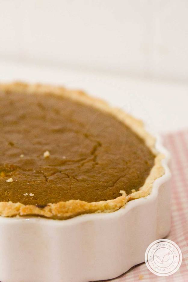 Receita de Torta de Abóbora Americana | Pumpkin Pie - sobremesa tradicional do Dia de Ação de Graças nos Estados Unidos.