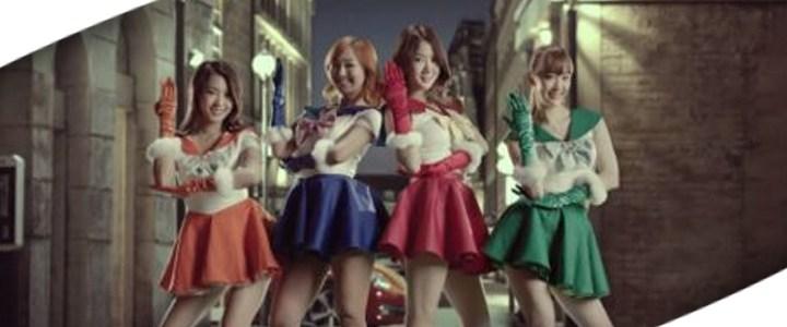 Korea no se queda atrás…comercial inspirado en Sailor Moon