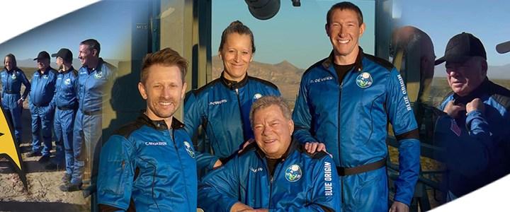 Captain James T. Kirk: William Shatner, regresa de su vuelo espacial.