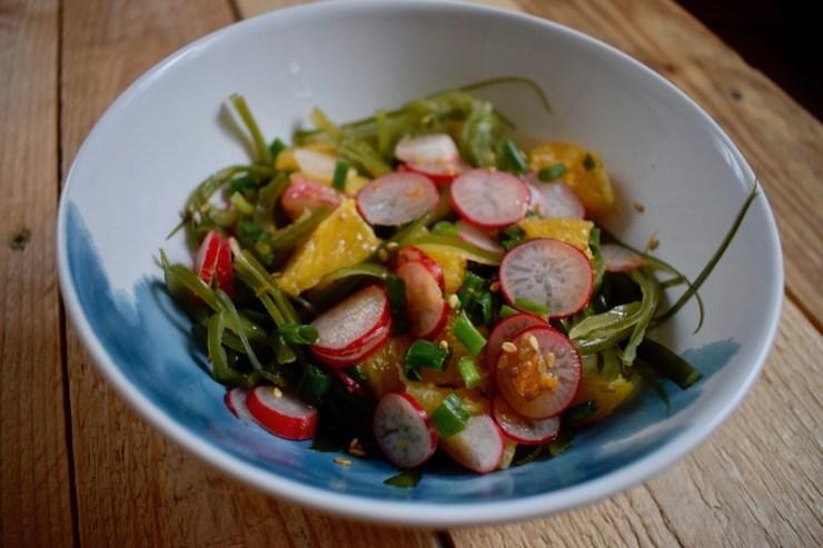 Salade d'algues fraîches d' après la recette de Félicie Tocze