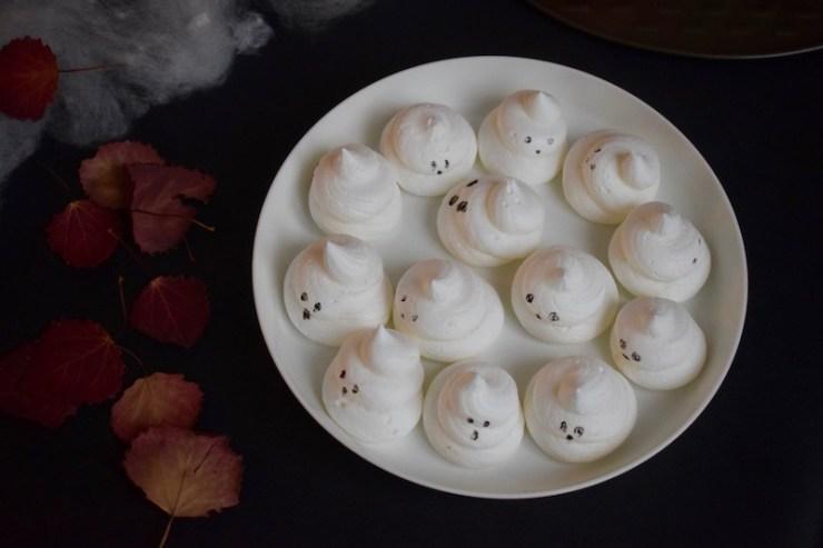 meringues fantômes, Halloween - Mangakel
