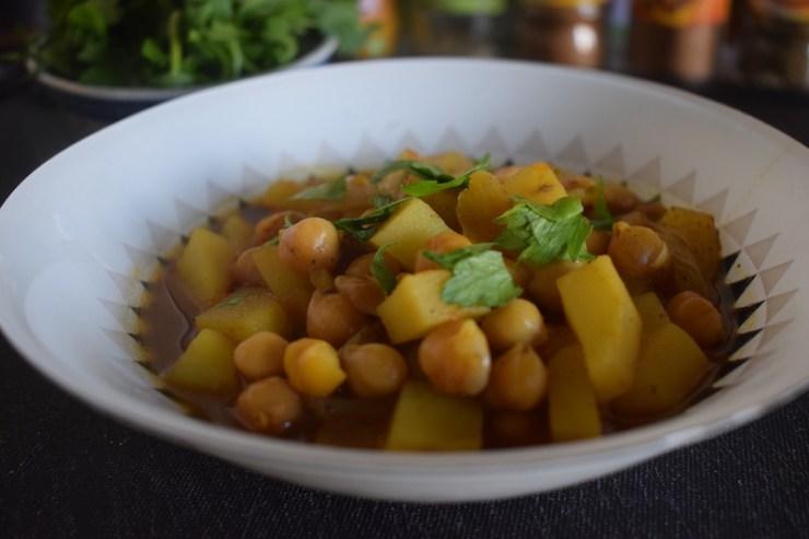 Curry de pois chiches & de pommes de terre