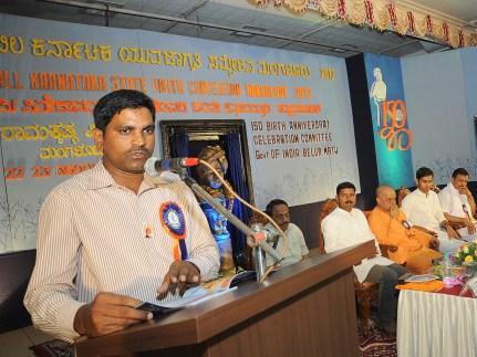 0050 Sri Harish Achar delivering vote of thanks