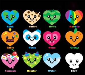 kawaii easy draw drawings drawing things cool candy simple heart hearts super chocolate smileys manganime adorable cookie