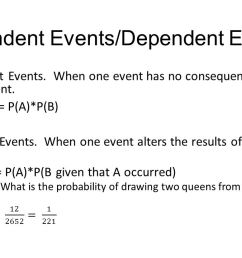 independent dependent events [ 1280 x 720 Pixel ]