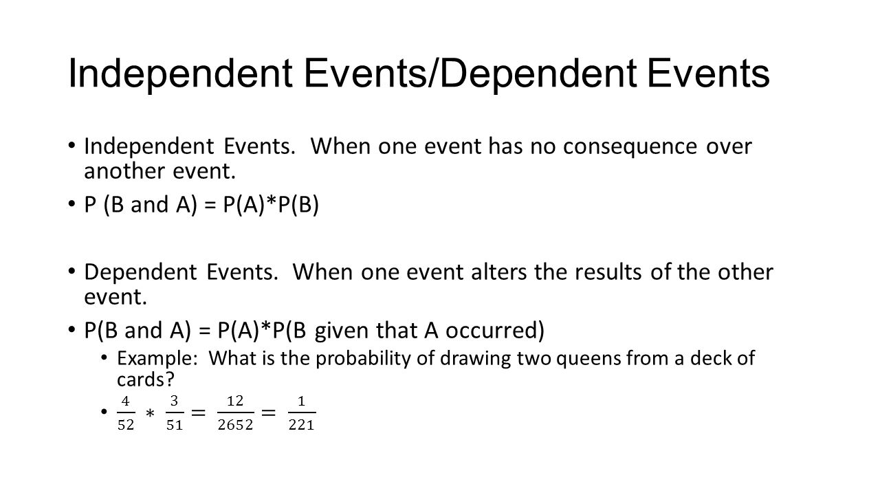 hight resolution of independent dependent events