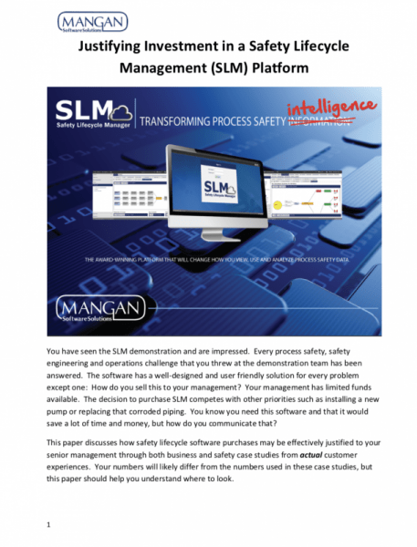 Justifying Investment in a Safety Lifecycle Management (SLM) Platform Whitepaper