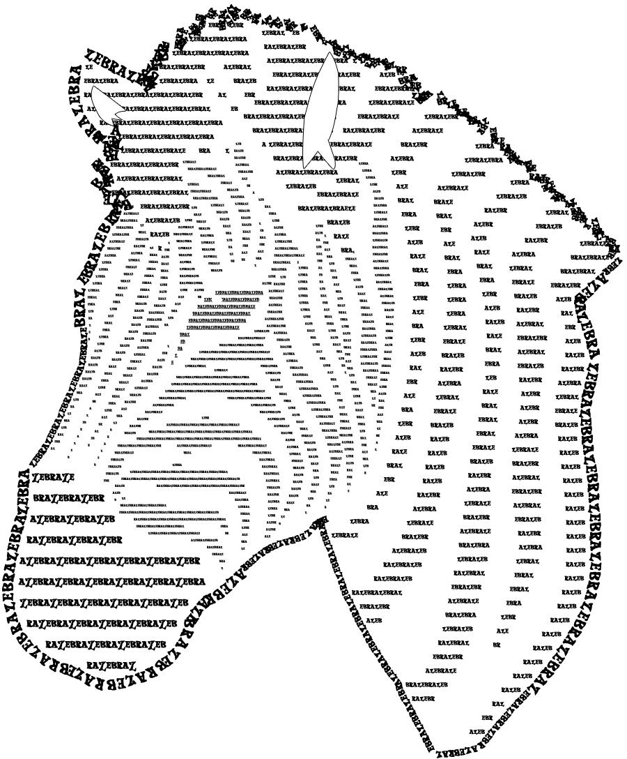 Simple Text Art : simple, Zebra, Summer