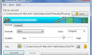 Công cụ chuyển đổi định dạng video để xem trên thiết bị cầm tay