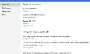 Hướng dẫn sử dụng mật khẩu tạm thời trên Outlook.com