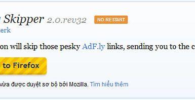 Cùng Firefox vượt qua trang quảng cáo của Adf.Ly