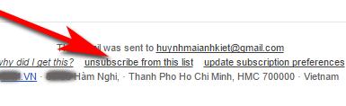Xóa địa chỉ email của mình ra khỏi các máy chủ gửi thư rác