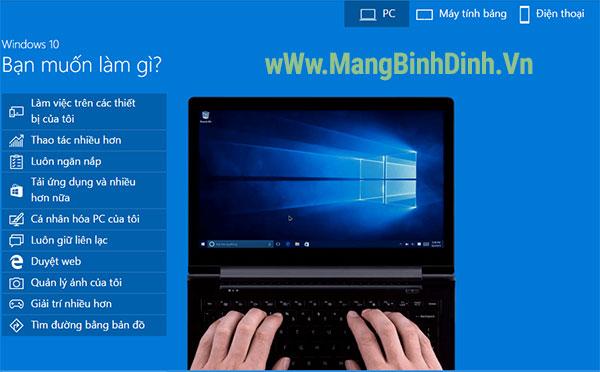 trai nghiem Windows 10