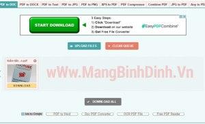 Chuyển đổi trực tuyến tập tin PDF sang các định dạng tập tin khác
