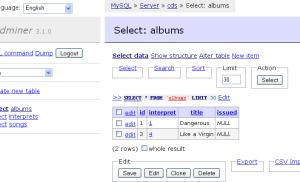 Adminer – Quản lý cơ sở dữ liệu chỉ với 1 tập tin PHP