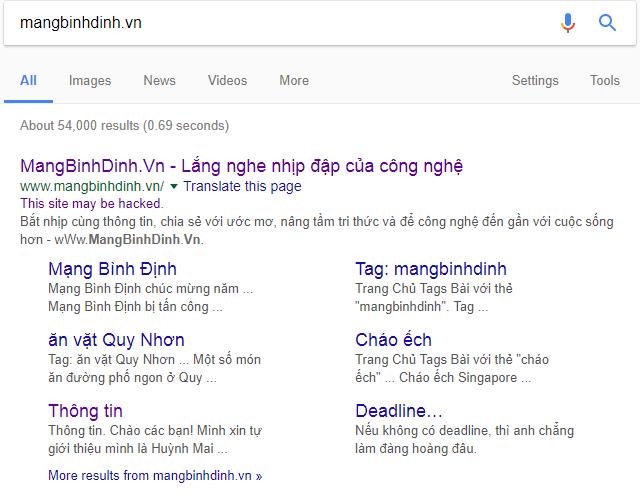 Hướng dẫn gỡ cảnh báo nguy hiểm của website trên trang kết quả tìm kiếm của Google