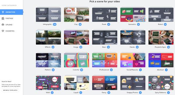 Tạo video quảng cáo đơn giản tại dịch vụ trực tuyến Biteable