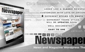 Click Newspaper – Giao diện phong cách báo giấy cho WordPress