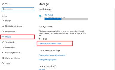 Thiết lập Windows 10 tự dọn tập tin rác