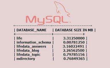 Cách kiểm tra dung lượng của cơ sở dữ liệu MySQL