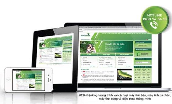 Vietcombank đã hỗ trợ đổi tên truy cập dịch vụ ngân hàng trực tuyến VCB-iB@nking