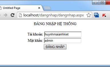 Tạo trang đăng nhập và đăng xuất ASP.NET