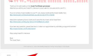Đăng ký nhận key bản quyền Avast Pro miễn phí 1 năm
