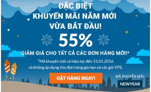 Tiết kiệm 55% chi phí hosting, tên miền tại Hostinger đầu năm mới 2016