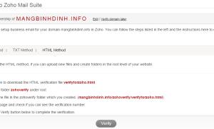 Tạo email với tên miền riêng miễn phí với Zoho mail