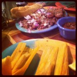 Tamales and Red Beans and Rice, Hal and Mals, Jackson, MI