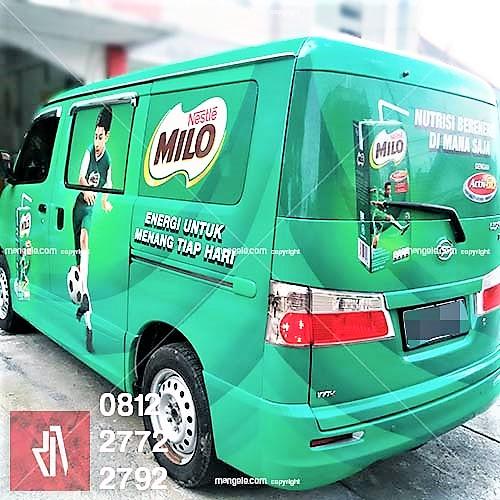 car branding sticker mobil bandung milo luxio kualitas mangele stiker