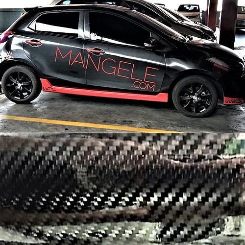 stiker carbon hi-gloss mobil bandung Mazda Mangele | 081227722792
