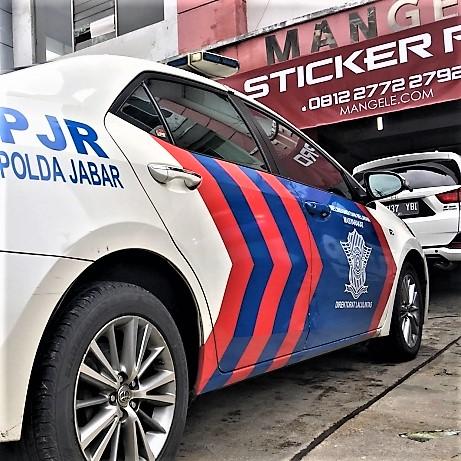 cutting stiker mobil bandung polisi pjr polda jabar