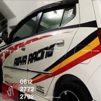 CUTTING STICKER mobil bandung agya   081227722792   Racing Keren