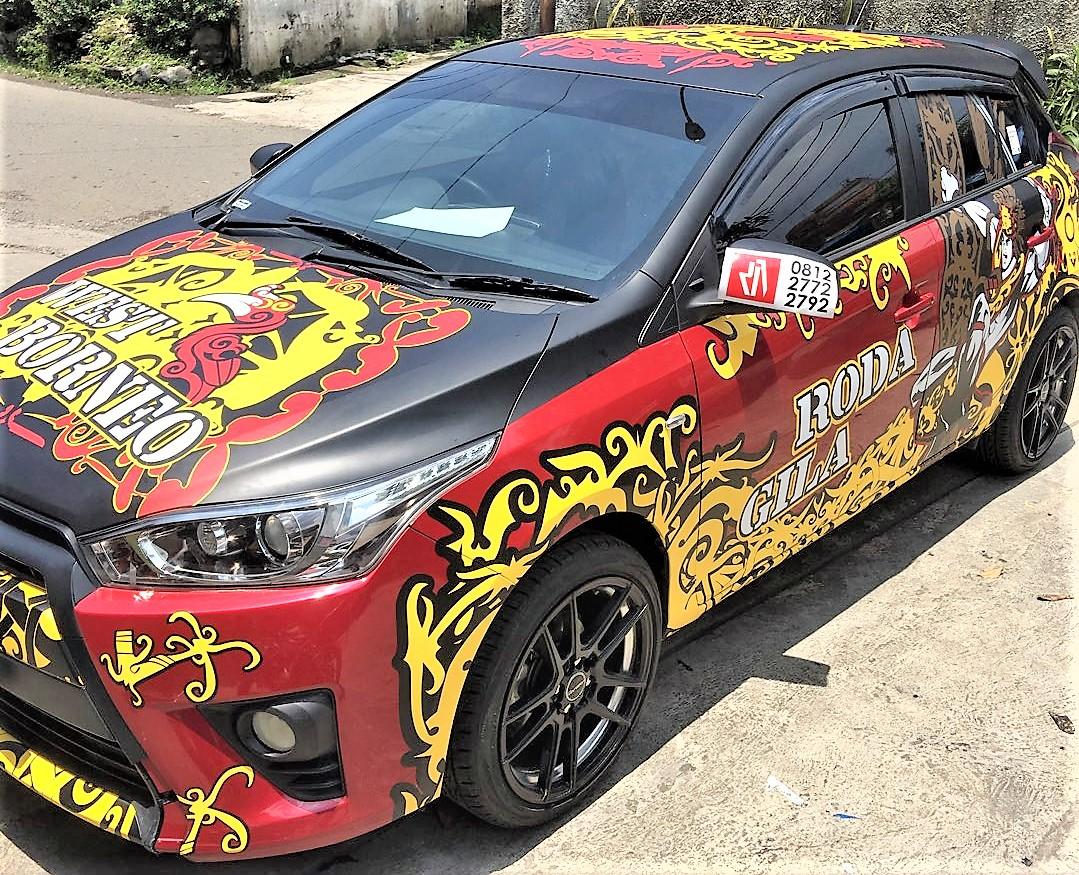 Cutting Sticker Mobil Warna Hitam | Modifikasi Style