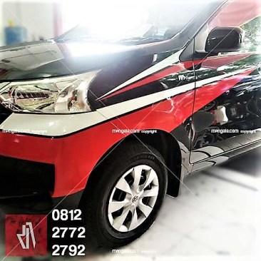 cutting stiker mobil avanza | 081227722792 | putih merah