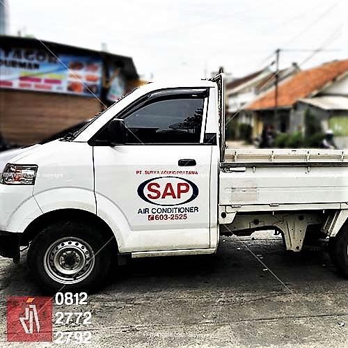 stiker branding mobil pickup terlaris di bandung | mangele 081227722792 | cutting stiker