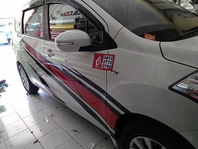 stiker cutting mobil | ertiga mugen | Bandung mangele stiker 081227722792