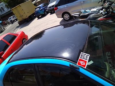 wrapping stiker atap hitam gloss   bandung   call 081227722792