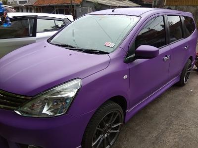 full wrapping ungu violet doff di bandung | fortuner vnt | mangele stiker | 081227722792