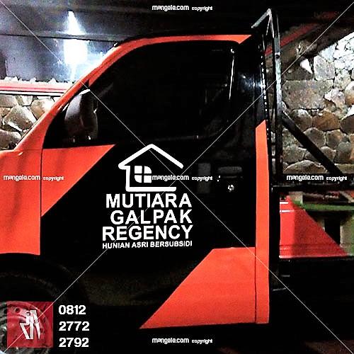tempat pasang stiker mobil usaha di bandung | branding pick up | mangele sticker 081227722792