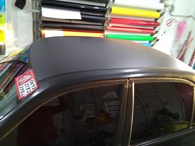 wrapping stiker mobil | atap stiker doff hitam bandung | mangele stiker 081227722792
