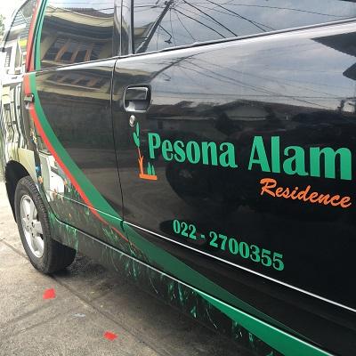 stiker mobil branding | pesona alam residence avanza di bandung | mangele stiker 081227722792